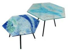 Tavolino esagonale in vetroHEXAGON - BARANSKA DESIGN