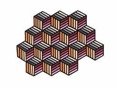 Tappeto in lana a motivi geometrici HEXAGON - Kilim
