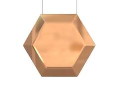 Lampada a sospensione a LED in ottone HEXAN | Lampada a sospensione in ottone -