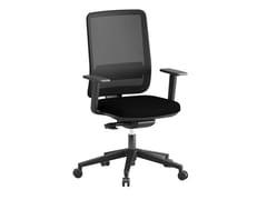 Sedia ufficio ad altezza regolabile in tessuto a 5 razze con braccioliHIERA - ERSA MOBILYA