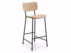 Sgabello alto in Fenix-NTM® con schienale con poggiapiediMASTER   Sgabello alto - MIDJ