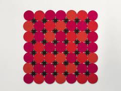 Tappeto quadrato in corda a motivi geometriciZOE | Tappeto quadrato - PAOLA LENTI