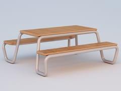 Tavolo da picnic rettangolare con panchine integrateHOLYDAY - DIMCAR