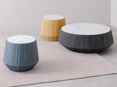 Tavolino rotondo in marmo e pelleHOOP - PAOLA ZANI