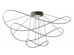 Lampada da soffitto a LED a luce diretta e indiretta con dimmer HOOPS BLACK - PLHOOPS3 - Hoops