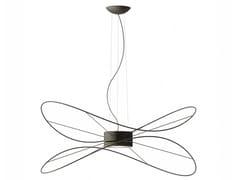 Lampada a sospensione a LED a luce diretta e indiretta con dimmer HOOPS BLACK -  SPHOOPS2 - Hoops