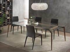 Tavolo rettangolare in legno e vetro HOPE | Tavolo in legno e vetro -