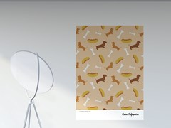 Artwork adesivo riposizionabile in pvcHOT DOGS | Poster - PPPATTERN