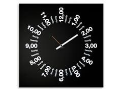 Orologio in lamiera da pareteONLY HOURS - DESIGNOBJECT.IT