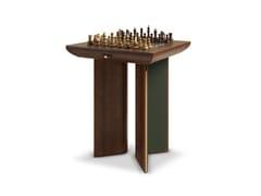 Tavolo da scacchi quadrato in noceHOWARD - WOOD TAILORS CLUB