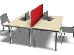 Pannello divisorio da scrivania in HPLDivisorio in HPL antibatterico - GES GROUP