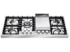 Piano cottura a gas in acciaio inoxHPT125FD | Piano cottura - ILVE