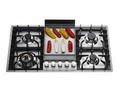 Piano cottura a gas in acciaio inoxHPT95FD | Piano cottura - ILVE