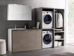 Mobile lavanderia componibile con ante a battente con lavatoioHYD01 | Mobile lavanderia - MOBILTESINO