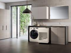 Mobile lavanderia componibile con lavatoio per lavatriceHYD06 | Mobile lavanderia - MOBILTESINO