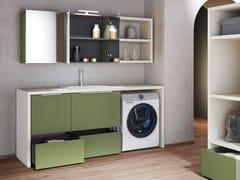 Mobile lavanderia componibile con lavatoio per lavatriceHYD22 | Mobile lavanderia - MOBILTESINO