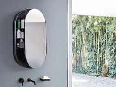 Specchio ovale a parete con contenitoreI CATINI OVAL BOX - CERAMICA CIELO