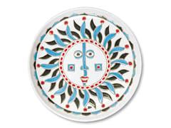 Vassoio rotondo in ceramicaI SOLI - GRUPPO ROMANI