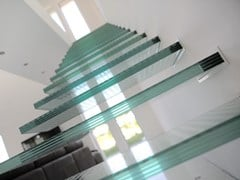Scala a sbalzo in vetro iFRAME Glass stairs - SIMER PLUS
