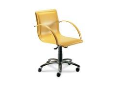 Sedia ufficio ad altezza regolabile in pelle con braccioliIBIZA - ROCHE BOBOIS