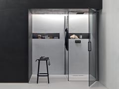 Box doccia angolare con anta battente e lato fissoICARO | Box doccia angolare - ARBLU