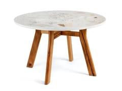 Tavolo rotondo in terrazzo veneziano e rovereICE | Tavolo rotondo - FOR ME LAB