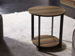 Tavolino rotondo in legno ICS | Tavolino -