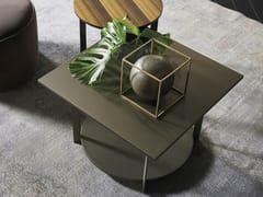 Tavolino laccato quadrato in legno ICS | Tavolino quadrato -