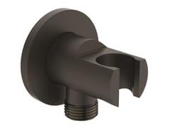 Ideal Standard, IDEALRAIN MATT BLACK - BC807 Supporto per doccette con presa acqua