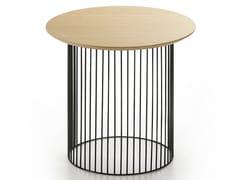 Tavolino basso rotondo in acciaio e legnoIDRA | Tavolino rotondo - KENDO MOBILIARIO