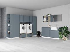 Birex, IDROBOX COMP. 3 Mobile lavanderia laccato con ante a battente