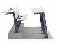 Banco in laminato con sedie integrate e struttura in metalloIKEDA - ERSA MOBILYA
