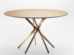 Tavolo rotondo in legno impiallacciatoIKI | Tavolo in legno impiallacciato - ADENTRO