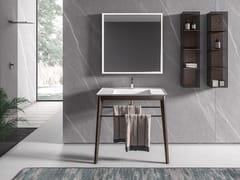Mobile lavabo da terra con porta asciugamaniIKON 09 - BMT