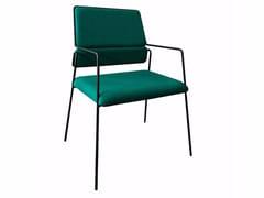 Sedia imbottita in tessuto con braccioliIMPALA© | Sedia con braccioli - AIRBORNE
