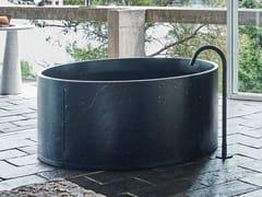 Vasca da bagno centro stanza rotonda in marmo IN-OUT | Vasca da bagno in marmo - In-Out