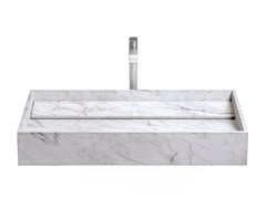 Lavabo da appoggio rettangolare in marmo di Carrara INCLINIO   Lavabo in marmo di Carrara -