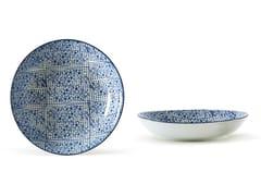 Piatto fondo in porcellana INDACO FL. 014 | Piatto fondo - Indaco