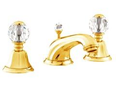 Rubinetto per lavabo a 3 fori con cristalli Swarovski® INDICA | Rubinetto per lavabo a 3 fori - Indica