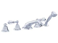 Set vasca a 5 fori con cristalli Swarovski® INDICA | Set vasca con cristalli Swarovski® - Indica