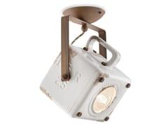 Lampada da soffitto orientabile in ceramicaINDUSTRIAL | Lampada da soffitto orientabile - FERROLUCE