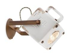 Applique orientabile in ceramicaINDUSTRIAL | Lampada da parete - FERROLUCE