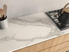 Top cucina in gres porcellanato effetto marmoINFINITO 2.0 CALACATTA LIGHT | Top cucina - CERAMICA FONDOVALLE