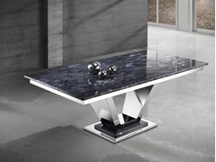 Tavolino con top Crystal Stone® e base in acciaio inoxINFINITY | Tavolino - BALLARINI
