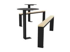 Tavolo per spazi pubblici rotondo in legnoING - EUROFORM K. WINKLER