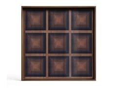 Vassoio quadrato in legno e vetroINK SQUARES - SQUARE L - ETHNICRAFT