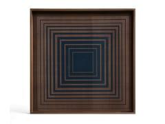 Vassoio quadrato in legno e vetroINK SQUARES - SQUARE S - ETHNICRAFT