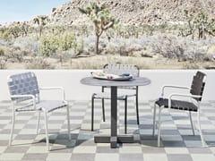 Tavolo da giardino rotondo in gres porcellanato INOUT 847 - InOut