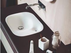 Lavabo da incasso soprapiano rettangolare in Cristalplant® NIVIS | Lavabo da incasso soprapiano - Nivis