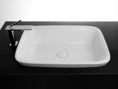 Lavabo da incasso soprapiano rettangolare singolo in ceramicaSOUL | Lavabo da incasso soprapiano - VALDAMA